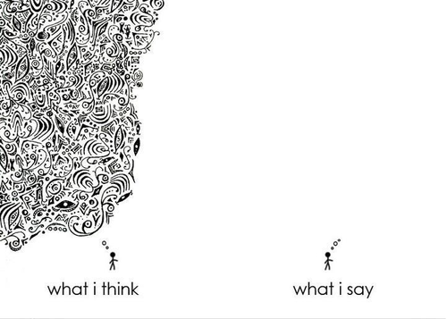 what i think what i say