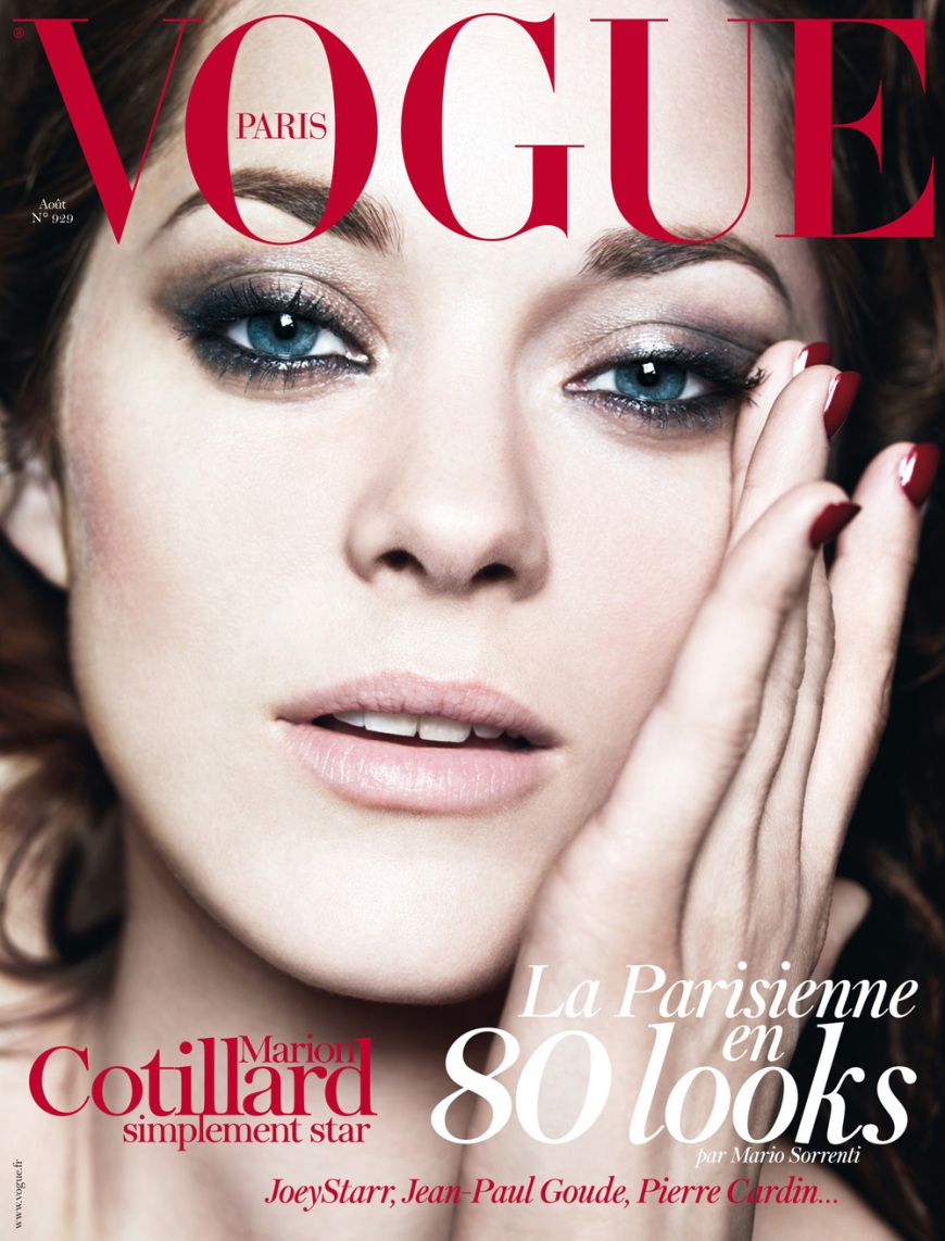 Marion Cotillard covering French Vogue (ok so this is unrelated but I just love Marion so much!!)