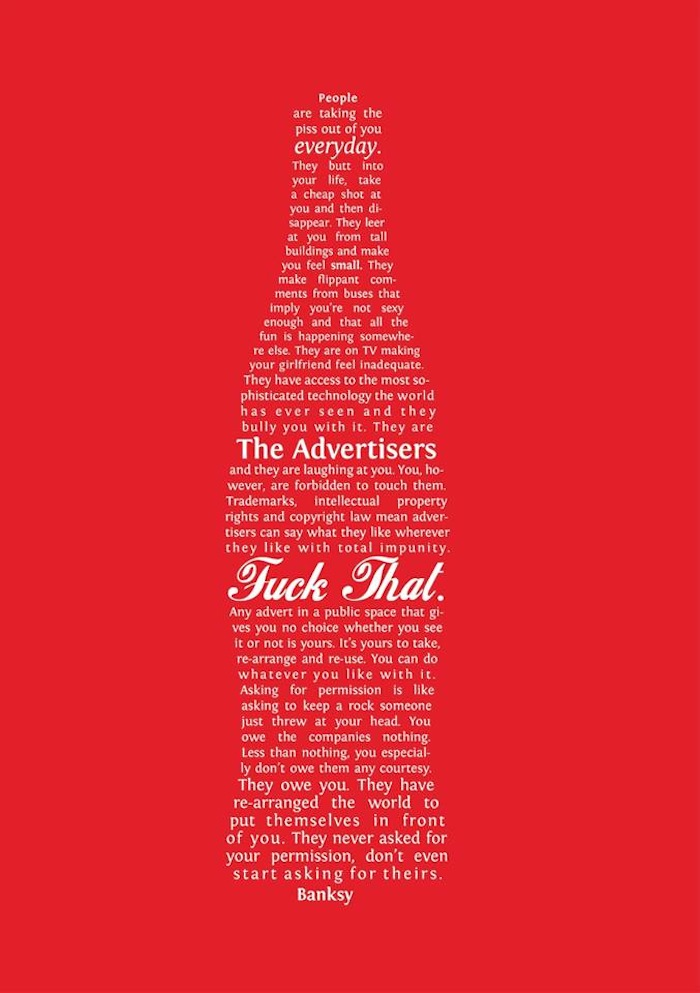 Banksy On Ads.