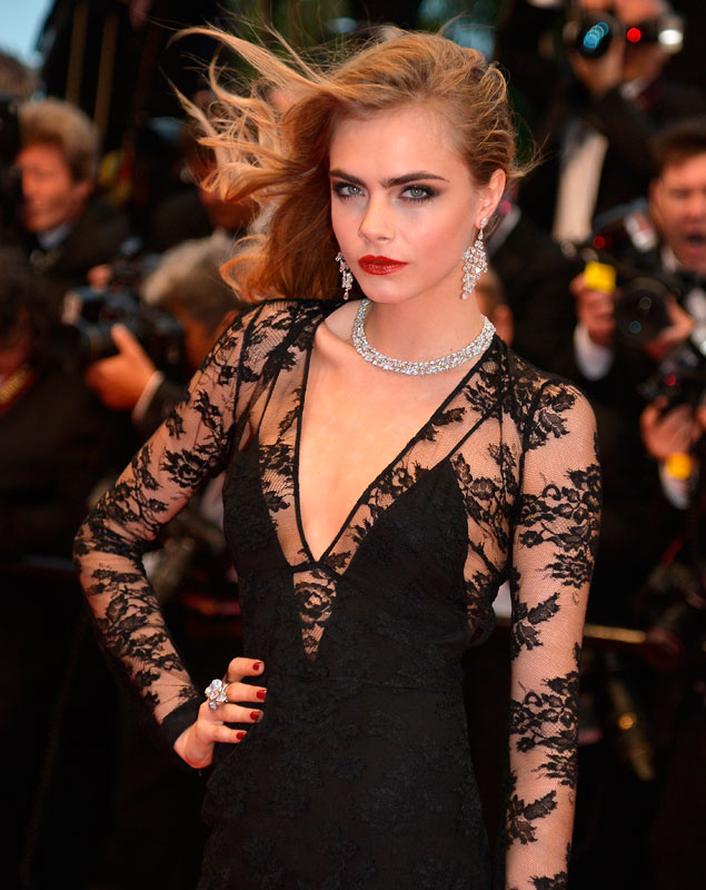 Cara Delevingne in Burberry.