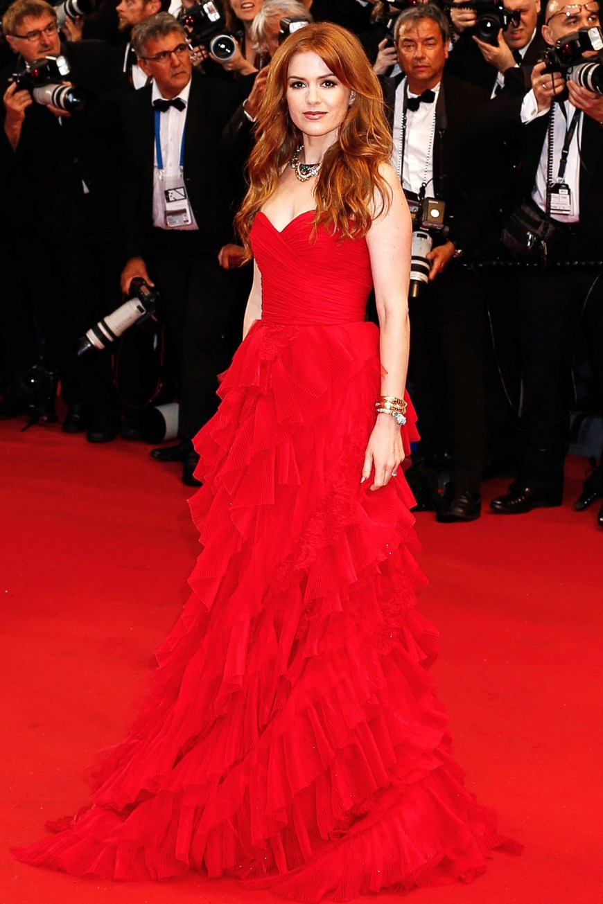 Isla Fisher in Oscar De La Renta.