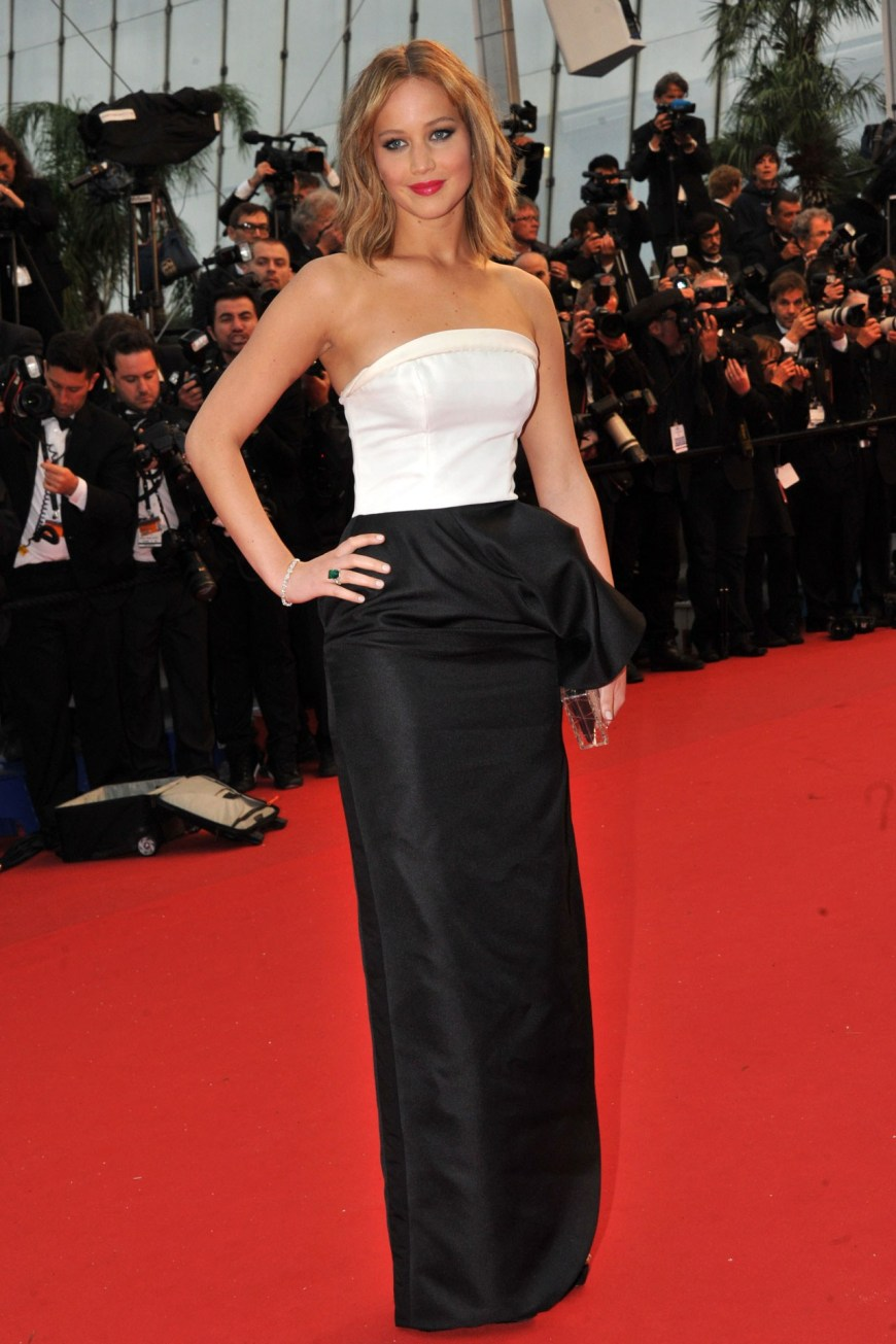 Jennifer Lawrence in Dior.