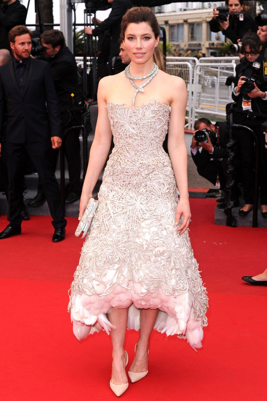 Jessica Biel in Marchesa.