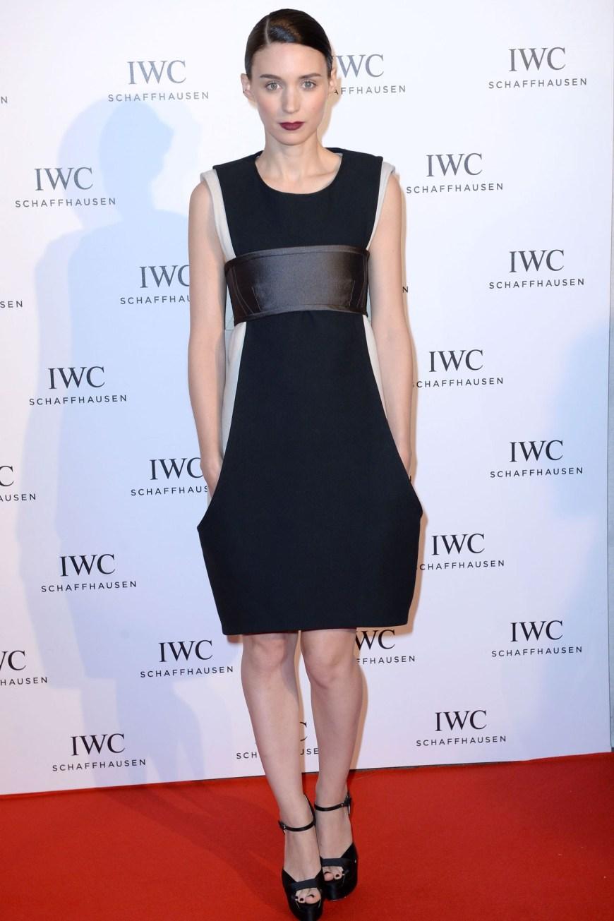 Rooney Mara in Vera Wang.